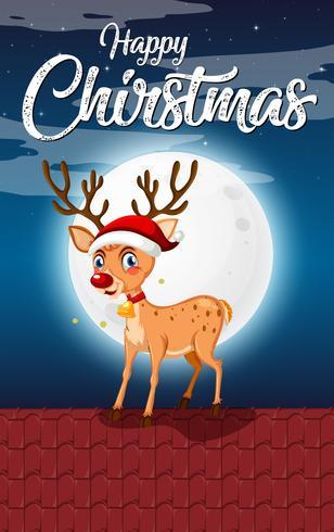 Happy kerstnacht sjabloon