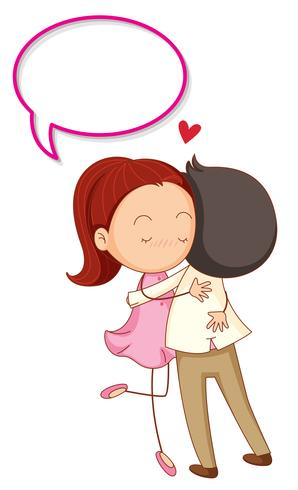 Casal Apaixonado Com Balao De Fala Download Vetores Gratis