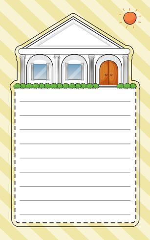 Una carta speciale con una casa e un sole