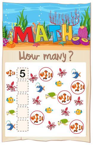 Hoja de cálculo para contar peces