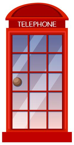 Klassisk brittisk röd telefonkiosk