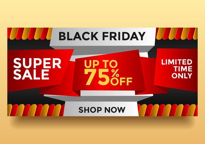 Black Friday Super Sale Vector Banner