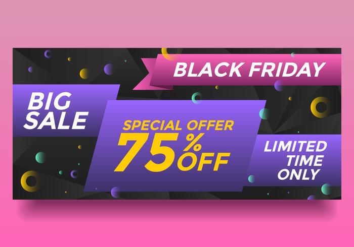 Black Friday Big Sale Banner Vector