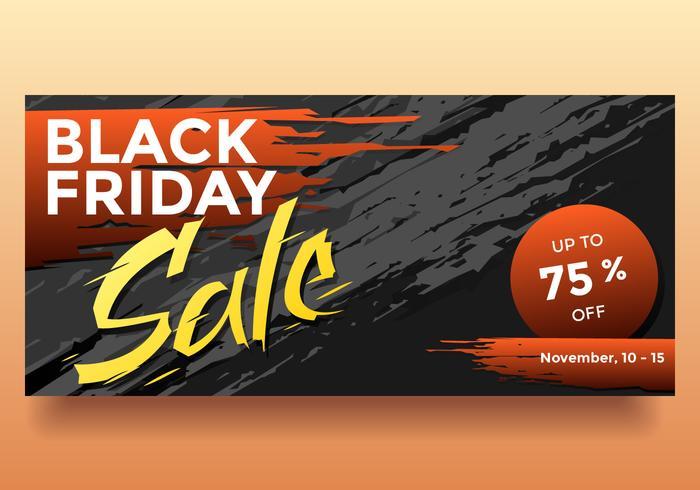 Black November Sale Banner Vector