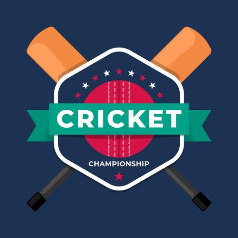 Cricket Sport Logo Badge Lagmästerskapsmall