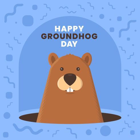 Ground Hog Funny Cute Design Card Template Invitations