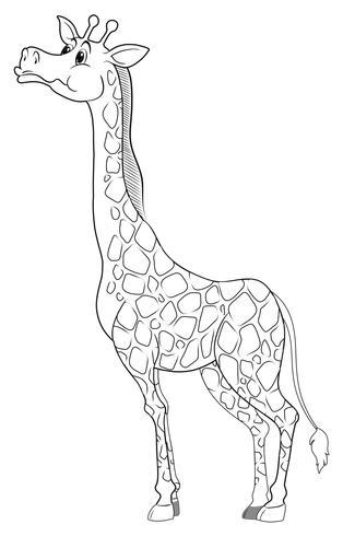 Doodle djurtecken för giraff