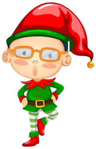 Elfo con sombrero rojo