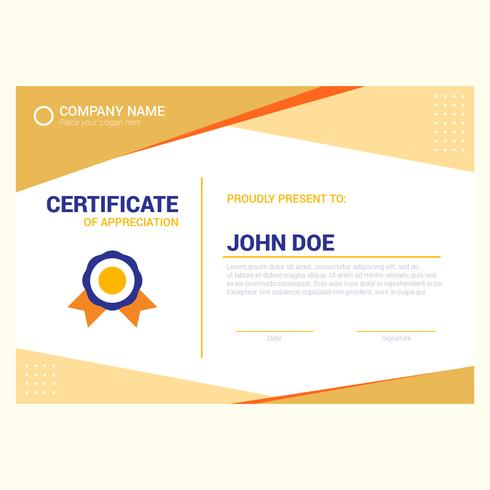 warm color modern certificate template
