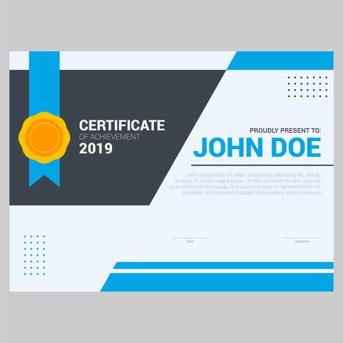 modern cool color certificate template