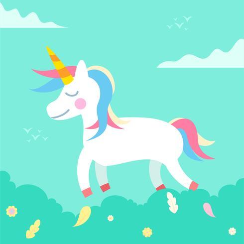 unicorno di colore pastello
