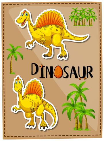 Poster design with two spinosaurus