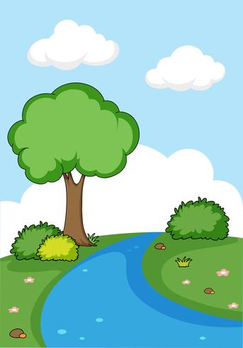 A simple nature background vector