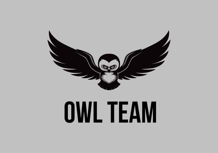 vliegende uil logo-vector