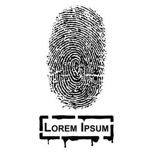 Realistic Fingerprint and frame for fill text