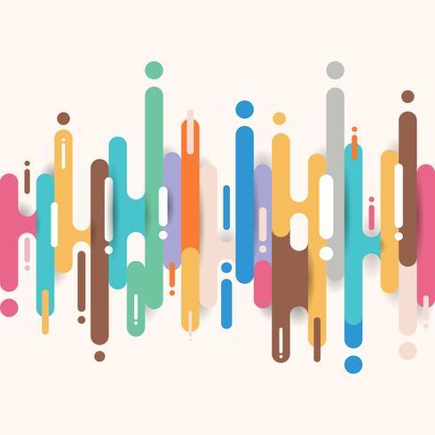 Formas redondeadas multicoloras abstractas líneas de fondo de transición con espacio de copia. Elemento semitono color brillante.