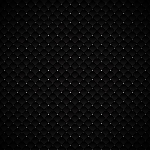 Diseño geométrico negro de lujo abstracto del modelo de los cuadrados con los puntos de plata en fondo oscuro. Textura lujosa. Superficie metálica de carbono. vector