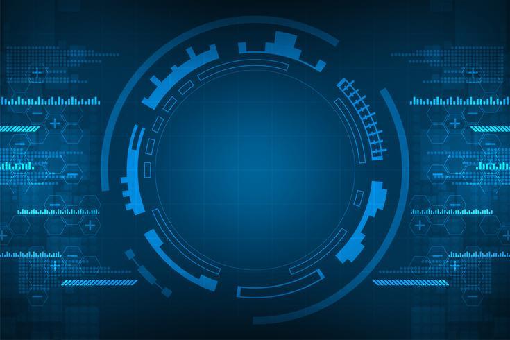 Resumen de vectores de fondo muestra la innovación de la tecnología y los conceptos de la tecnología.