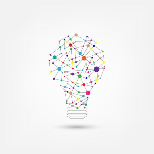 Tecnología de red en forma de bombillas.