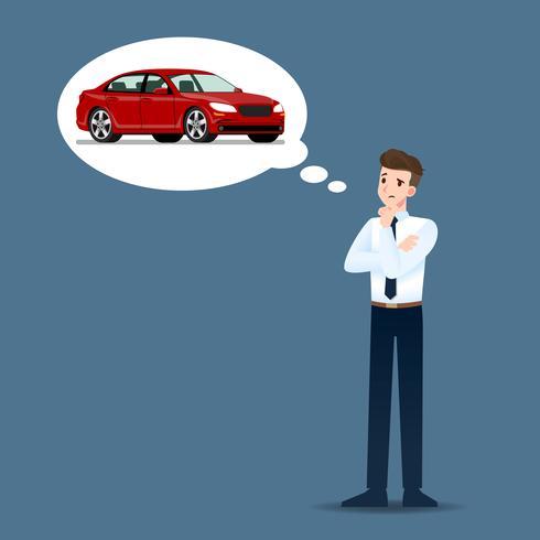 Os empresários pensam e esperam seriamente comprar carros de luxo caros.