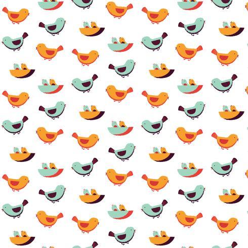 Patrón de la familia de las aves