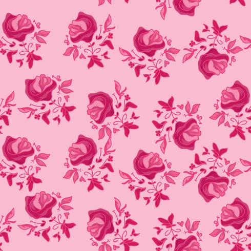 Pinky Flower Pattern vector