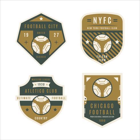 Collection d'insigne de football vecteur