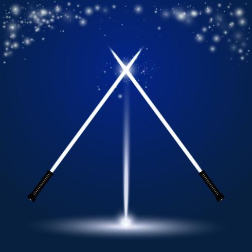 Light saber set vector