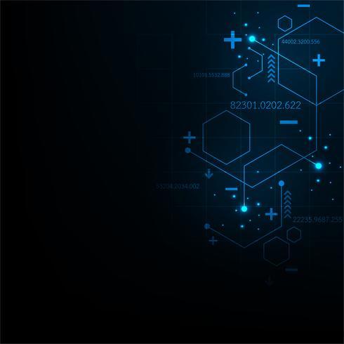 Diseño abstracto de la tecnología del fondo del vector.