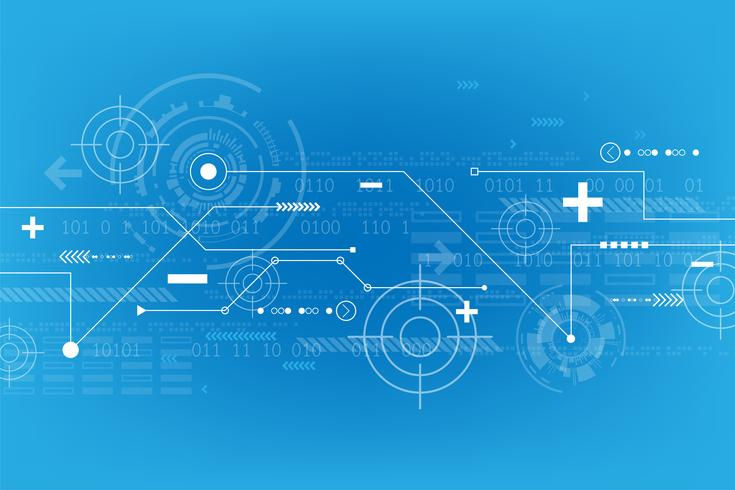 Fondo abstracto del vector en el concepto de tecnología.