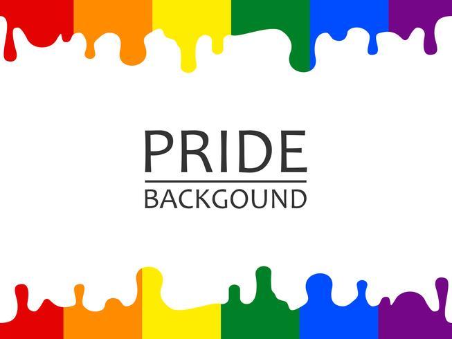 Illustration vectorielle de l'arc-en-ciel fierté LGBTQ dégoulinant de fond d'écran