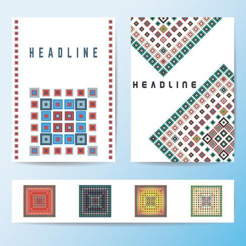 Plantilla de folleto de cubierta abstracta vector