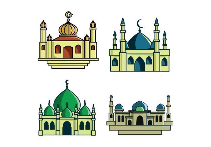 Ilustración vectorial masjid
