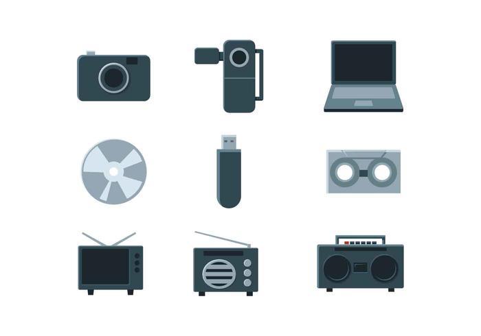 multimedia pictogram vector