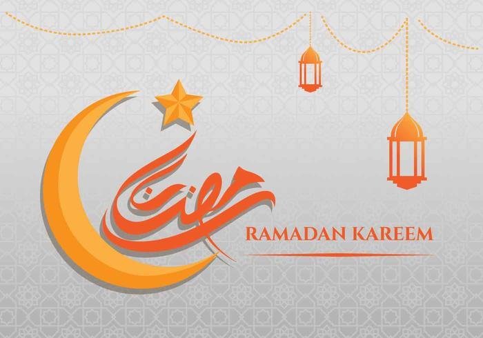 fundo de cartão ramadan kareem vetor