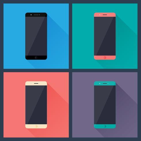 Teléfonos inteligentes vector