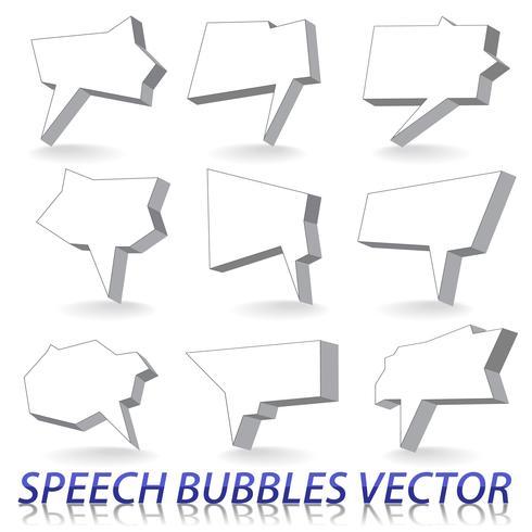 Globos de texto vector