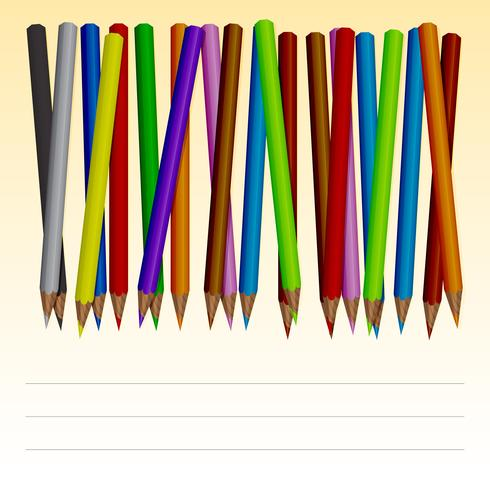 Set of colored pencils vector