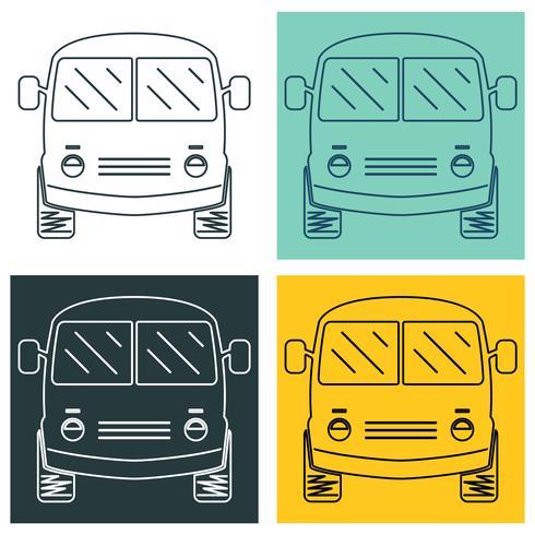 Set of mini bus
