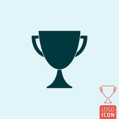 Icono de trofeo aislado