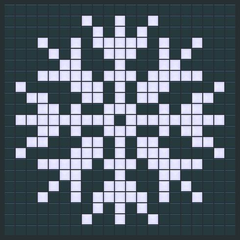 Diseño de juego de copo de nieve vector