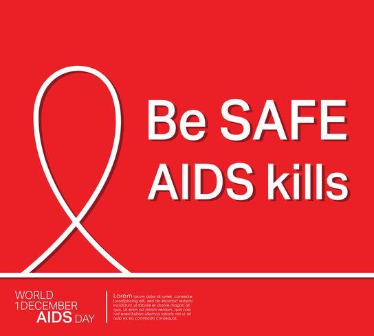 Cartaz de fita de AIDS vetor