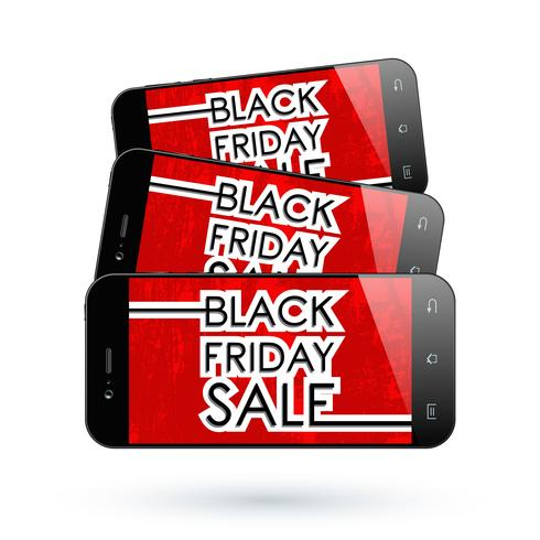 Smartphone Black Friday vector