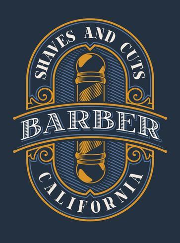 Letras de colores para la barbería.