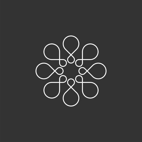 Bloem lus Logo sjabloon afbeelding ontwerp. Vector EPS 10.