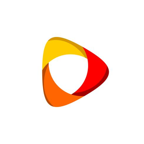 Spielknopf-Linse bunter Logo Template Illustration Design. Vektor EPS 10.