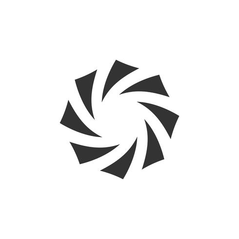 Abstrakter Membran-Vektor Logo Template Illustration Design. Vektor EPS 10.
