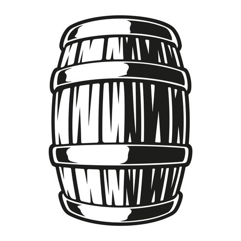 Illustration of a barrel of beer vector
