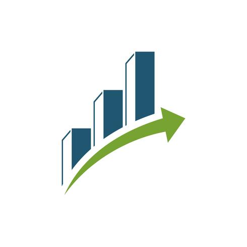Projeto da ilustração do molde do logotipo da finança da bolsa de valores. Vetor eps 10