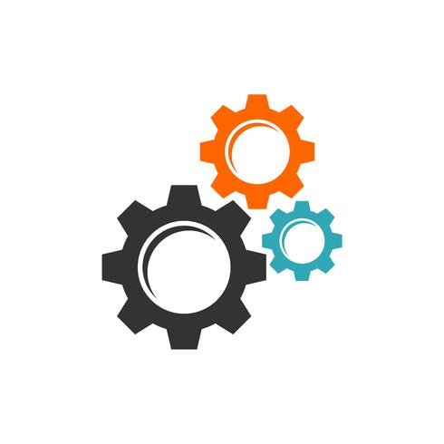 Gear Cogwheel Logo Mall Illustration Design. Vektor EPS 10.